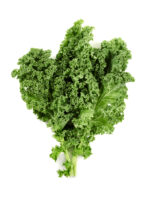 kale leaves isolated